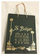 VINTAGE BULGARI Borsa Regalo x 2 - 33cm lunghezza, larghezza 26cm, profondità 12cm x 33cm