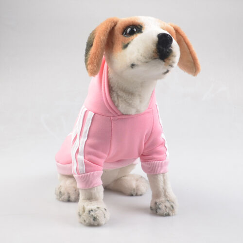 Pet Dog Coat Jacket Fall Winter Clothes Puppy Sweater Hooded Clothing Apparel UK 9