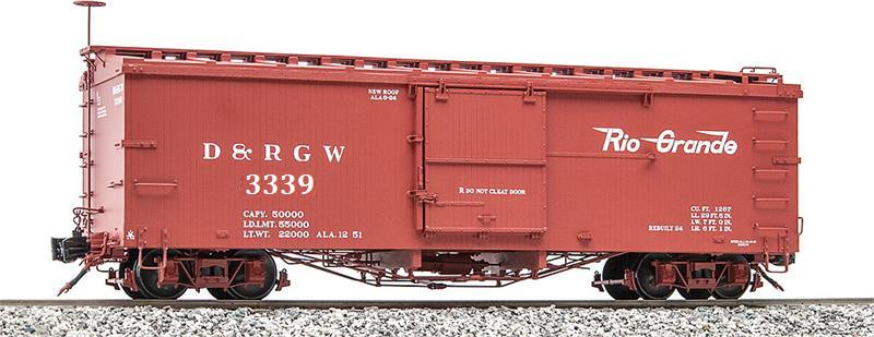 Accucraft AMS AM2201-33 BOX CAR D&RGW NARROW GAUGE 1 20 3