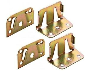 2 Set -Double Bed Fitting Center Rail Bracket, Galvanized 70mm -Made in GERMANY