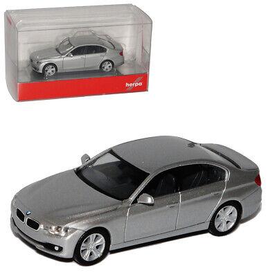 BMW 3er F30 Limousine Silber Ab 2011 H0 1//87 Herpa Modell Auto mit oder ohne ind