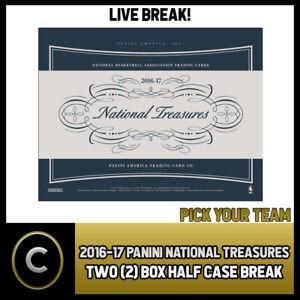 2016-17-PANINI-NATIONAL-TREASURES-BASKETBALL-2-BOX-BREAK-B160-PICK-YOUR-TEAM