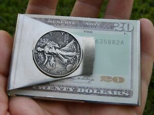 Authentic-Walking-Liberty-half-dollar-coin-Money-clip-VARIOUS-AVAILABLE-YEARS