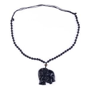 Glück Obsidian Anhänger Hexagramm Halskette Schmuck Segen Amulett Adjustable