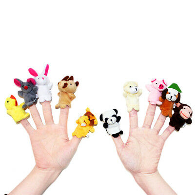 2Pcs Little Tiny Finger Puppets Baby Storytelling Hand Props Kids Funny Toy US