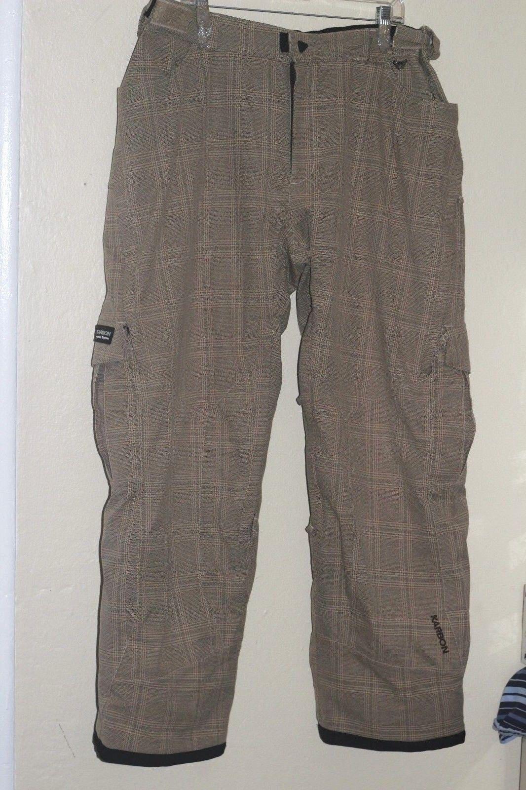 Karbon Snow Ski Pants Plaid Mens XL  Snowboard Limited Edition