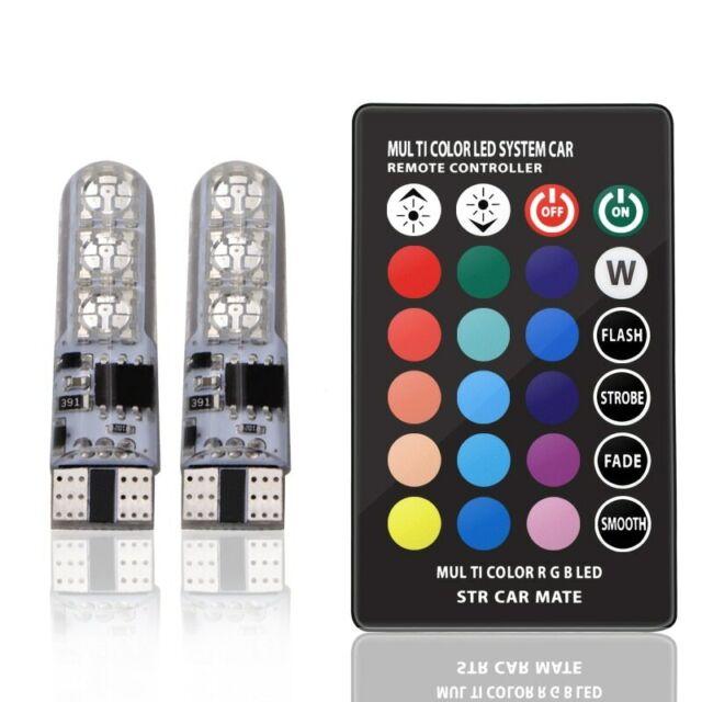 Wedge T10 Led W5w X2 Bulbs 3606smd Strobe 12v Car Remote Control Coloured eBrdCxoW
