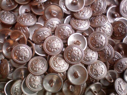 XM43 15mm 24L or rose effet métal militaire ecusson crest shank boutons