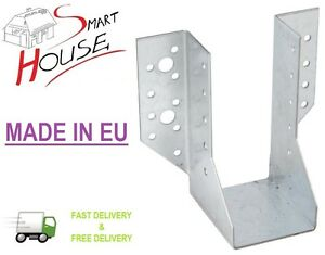 Heavy-Duty-Galvanised-Joist-Hanger-Timber-to-Timber-40mm-50mm-60mm-Free-P-amp-P