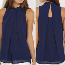 Women Sleeveless Tank Tops Cami Sleeveless T-Shirt Summer Vest Crop Top Blouse