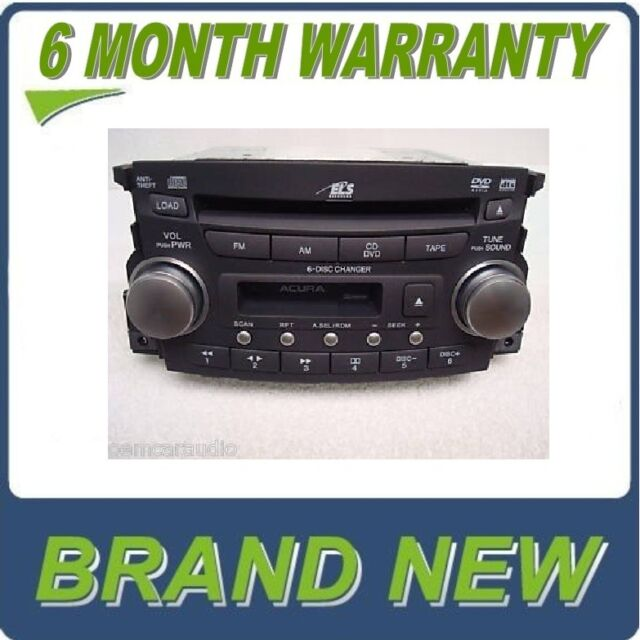 NEW 07 08 ACURA TL Radio Stereo 6 Disc Changer CD Tape