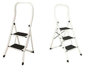 sicherheits klapptritt leiter haushaltsleiter klappleiter tritt stufen stufig ebay. Black Bedroom Furniture Sets. Home Design Ideas