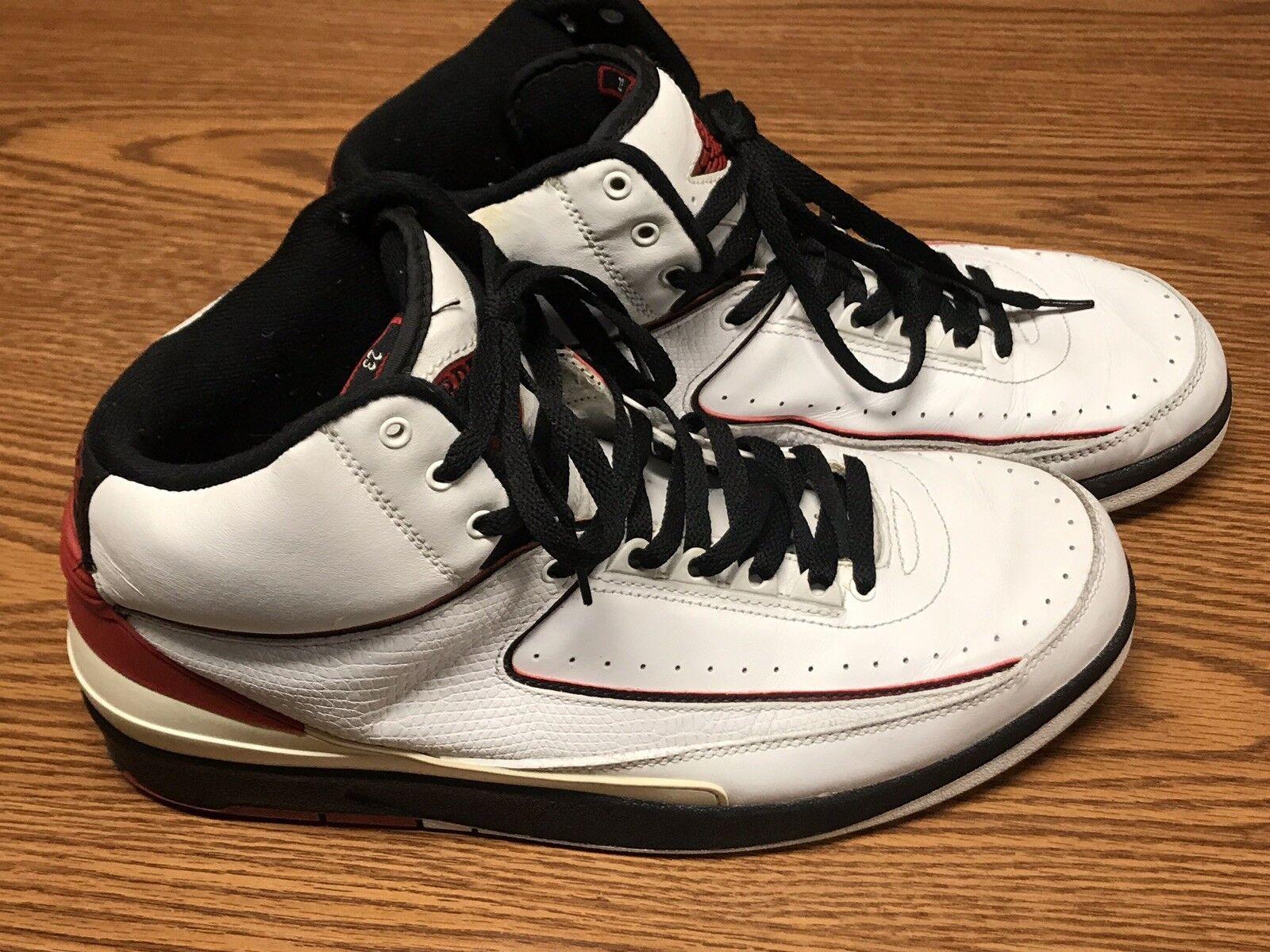 Nike 308308-161 2004  Air Jordan 2 Retro White Varsity Red Black Sz 11.5