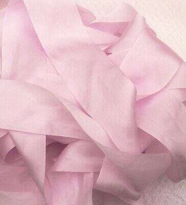 """25MM WIDE 100/% PURE SILK RIBBON ~PEACHY//PINK~COLOR   5 YDS 1/"""""""