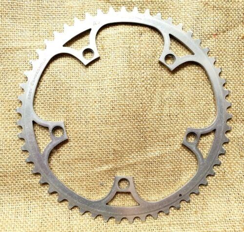 NOS Campagnolo Super Record 753//A 54t 144 BCD 3//32 silver chainring road bikes