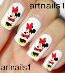 Minnie-Mouse-Disney-Red-Nail-Art-Water-Decal-Stickers-Manicure-Salon-Mani-Polish