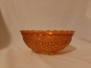Orange Carnival Glass Fruit or Nut or Candy Dish