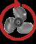 """BLACK DIAMOND 7.8/"""" DIAMETER QUICKSILVER QA3182R 3-BLADE ALUMINUM PROPELLER"""
