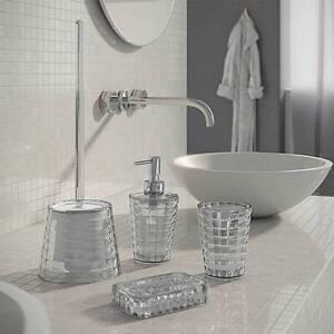 G- Glady set 4 pezzi accessori da bagno in resina trasparente