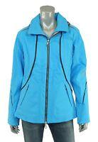 North Face Blue Bibi Leather Trim Softshell Insulated Ski Jacket M $699 on sale