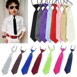 Boy-Kids-tie-Children-Baby-Wedding-Solid-Colour-Elastic-Tie-Necktie-Fashion-New