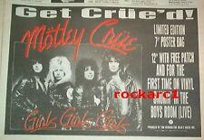 "MOTLEY CRUE Girls Girls Girls (red ink) 1987 UK Press ADVERT 12x8"""