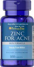 Pastillas Para El Acne 100 Tabletas De Zinc Con Vitaminas/Minerales Para Tu Piel