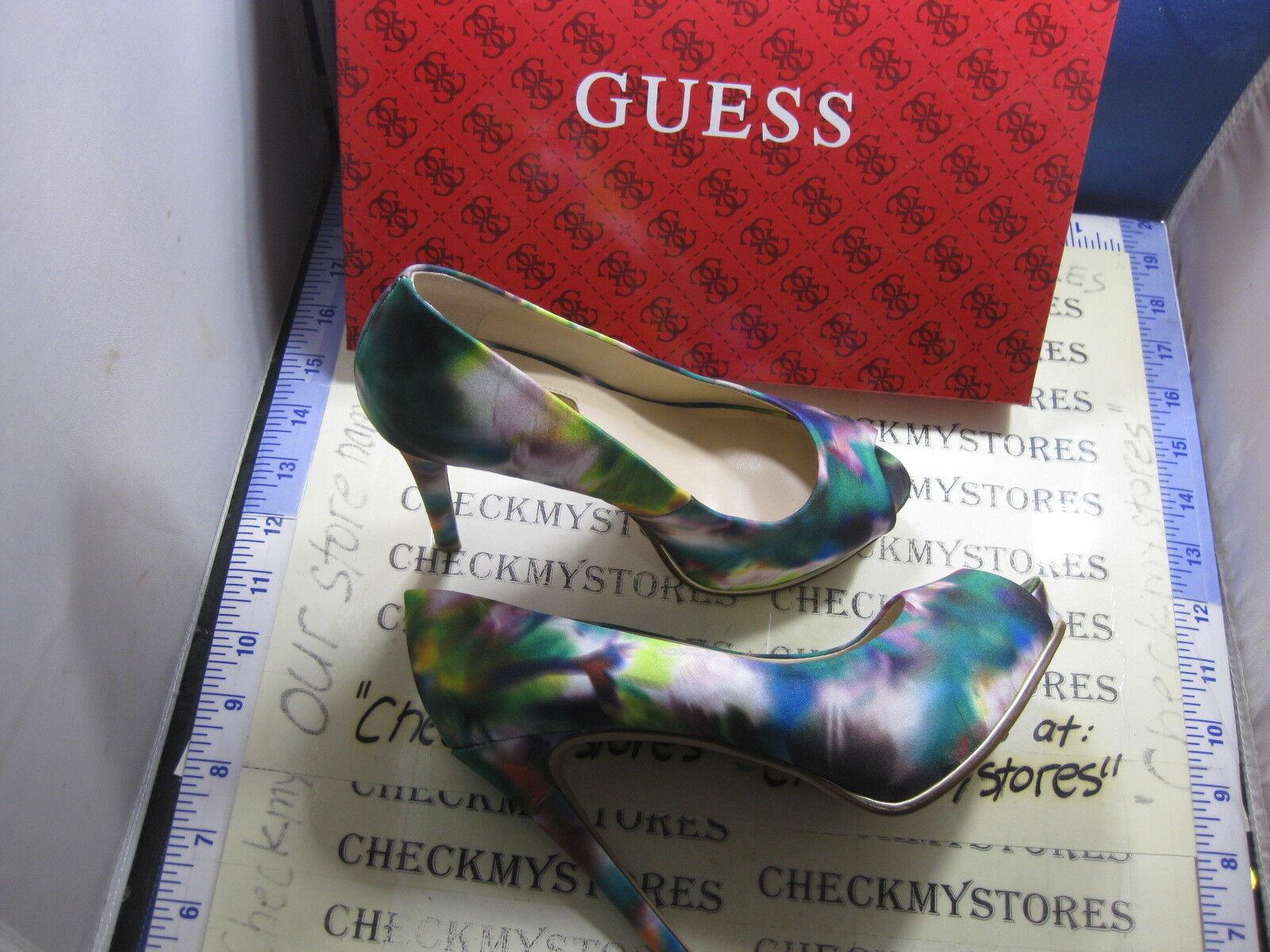 nib NEW Guess Honora3  Floral Pump Platform Stiletto Peep CHOOSE SIZE