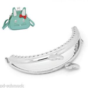 3-Silberfarbe-Taschenrahmen-Taschenbugel-Mit-Herz-Verschlus-9x5-5cm