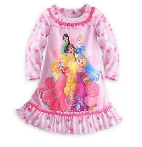 Disney-Store-Princess-NightGown-PJ-039-s-Girls-sz-4-5-6-7-8-9-10-Mulan-Aurora-Belle