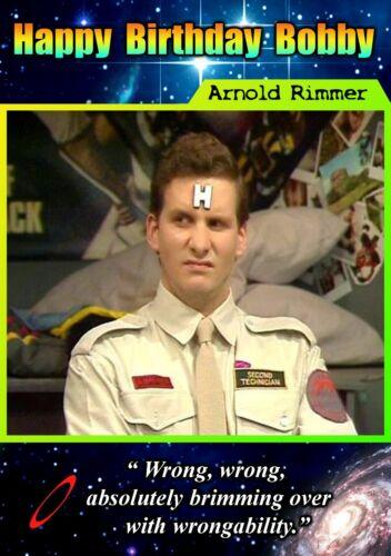 flibble-Personnalisé Joyeux Anniversaire Carte de voeux art science-fiction Red Dwarf-M