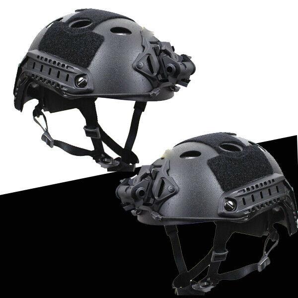 Tactical Carbon Fiber Paratrooper Rail Shroud Hunting FAST PJ fiber Helmet