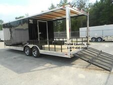 New 2022 85x24 85 X 24 Custom Utility Enclosed Cargo Trailer With Porch Ramp