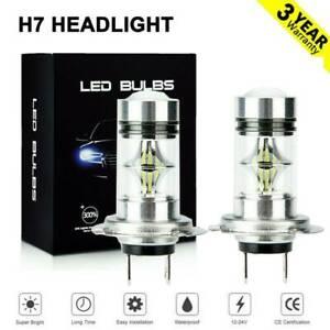 2x H7 LED Headlights Bulbs Conversion Kit High//Low Beam 80W 20000LM 6000K White