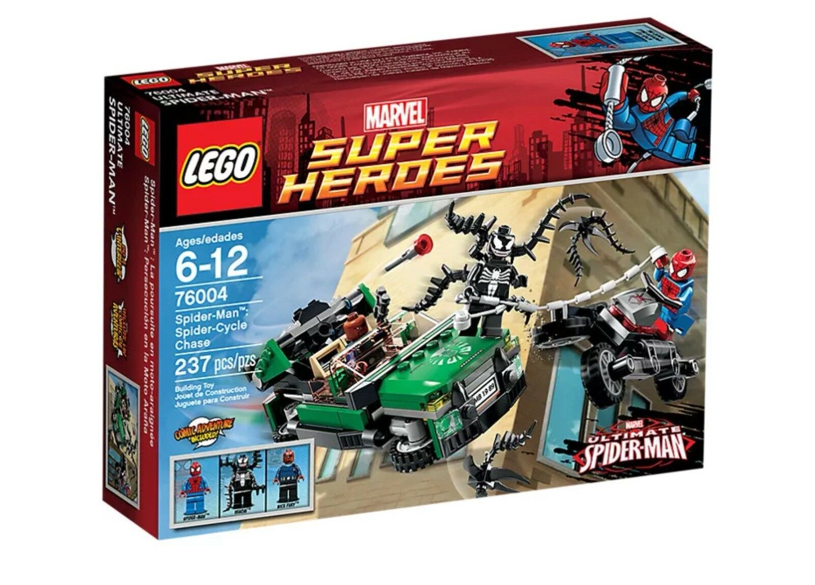 LEGO Super Heroes 76004 Spider-Man Spider-Cycle Chase New Sealed Retired