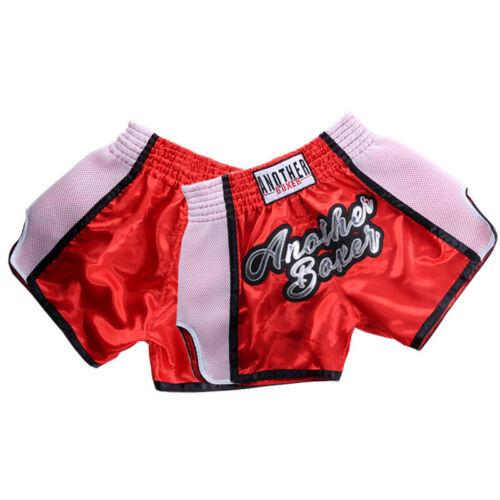 Unisex Adult//kids Muay Thai Fight Kick Boxing Shorts Pants MMA Grappling Trunks