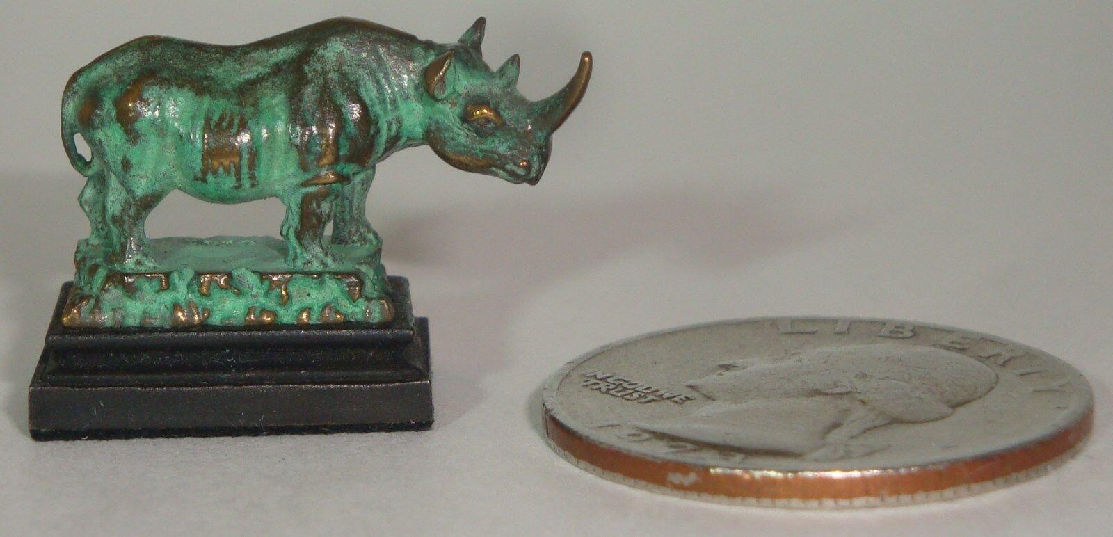 Daniel Phillip Kronberg Casa de Muñecas en Miniatura Escultura De Bronce Un Rinoceronte Rhino  2