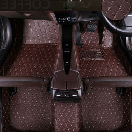 3pcs Custom Duty Durable Car Floor Mats Audi Set Car Van PU Leather Car Parts UK