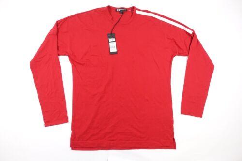 Y-3 Adidas Yohji Yamamoto CY6977 Rot 3 Streifen T-Shirt Hell
