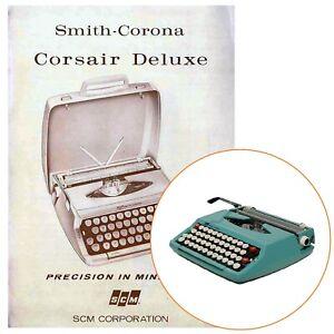 SMITH CORONA CORSAIR TYPEWRITER INSTRUCTION MANUAL Antique Vtg  Reproduction SCM