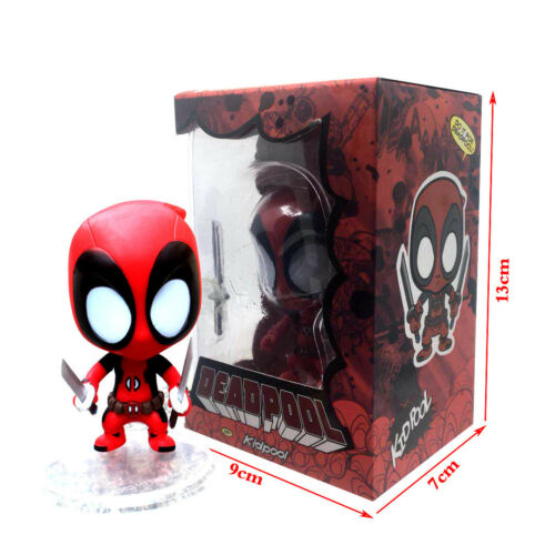 Marvel Chef Lady Deadpool Kidpool Dogpool Cute Mini PVC Figure Toy New In Box
