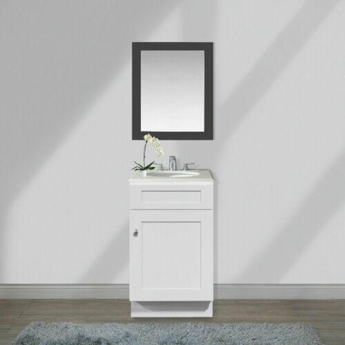 21 inch Bathroom Vanity Single Sink Base White Shaker Modern Premium Cabinet RTA
