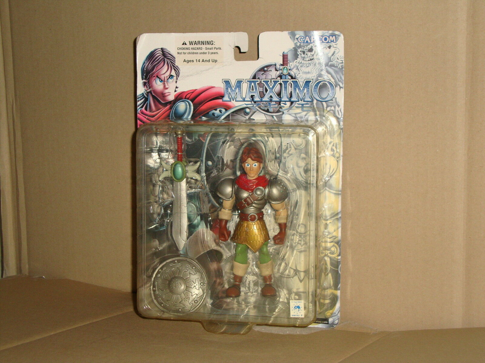 MAXIMO MAXIMO MAXIMO GHOST'N' GOBLINS ACTION FIGURE BY CAPCOM - YAMATO IN 2001 NEW IN BOX 2700ed