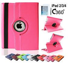 iPad 4 iPad 3 iPad 2 Edles Smart Cover Tasche 360° Schutz Hülle Case Etui Folie
