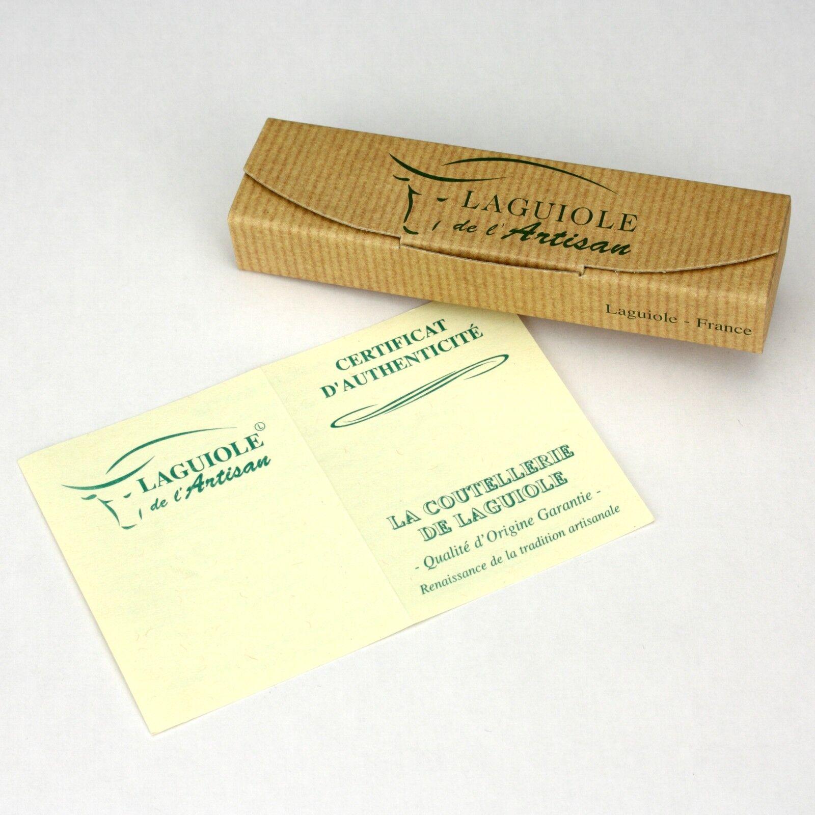 Laguiole Honoré Durand Taschenmesser Taschenmesser Taschenmesser Griff Olivenholz 11 cm Messer Klinge matt 4d265a