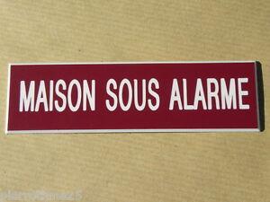 """Plaque Gravée """"maison Sous Alarme"""" Signaletique Ft 50x100 Mm Voulez-Vous Acheter Des Produits Autochtones Chinois?"""