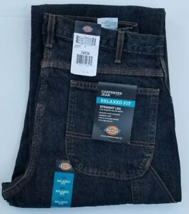 Dickies-Men-039-s-Relaxed-Fit-Straight-Leg-Carpenter-Jeans-42-x-30