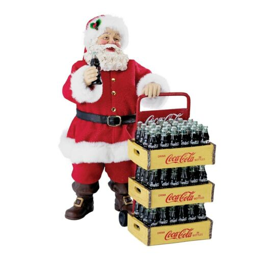 Kurt Adler Coca-Cola Santa with Delivery Cart 10.5-Inch Set of 2