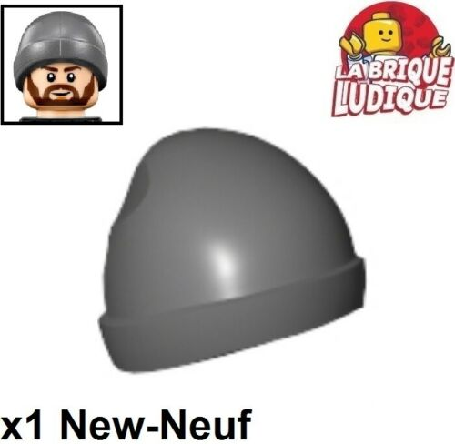 Lego 1x Minifig headgear bonnet cap beanie ski gris foncé//dark b gray 90541 NEUF