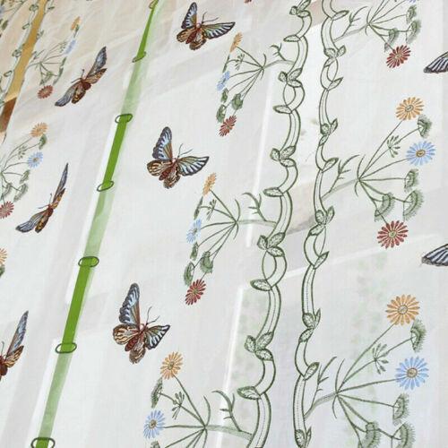 Schmetterling Stickerei Römisch Vorhänge Fenster Balkon Tüll Durchsichtig